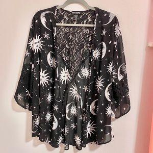 Women's Mystic Moon Kimono Top